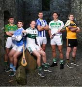22 November 2018; In attendance, from left, Jack Brett of Dunnamaggin, Darragh Egan of Graigue-Ballycallen, Tommy Fitzgerald of Portlaoise, Conor Dooley of Ballyboden St. Enda's, Colin Fennelly of Ballyhale Shamrocks and Daniel Gleeson of Na Fianna CLG during the AIB Senior Leinster Hurling Final Club Launch at Dalkey Castle in Dublin. Photo by David Fitzgerald/Sportsfile