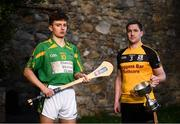 22 November 2018; Jack Brett of Dunnamaggin, left, and Daniel Gleeson of Na Fianna CLG in attendance during the AIB Senior Leinster Hurling Final Club Launch at Dalkey Castle in Dublin. Photo by David Fitzgerald/Sportsfile