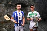 22 November 2018; Conor Dooley of Ballyboden St. Enda's, left, and Colin Fennelly of Ballyhale Shamrocks in attendance during the AIB Senior Leinster Hurling Final Club Launch at Dalkey Castle in Dublin. Photo by David Fitzgerald/Sportsfile