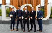 23 November 2018; In attendance during the GPA DCU Business School Masters Scholarship Programme and MBA Programme announcement are, from left, Cavan Footballer Dara McVeety, Dublin hurler Chris Crummey, Former Down Hurler Michael Ennis, Former Meath hurler Colm Ó Méalóid, and Dublin hurler Eoghan O Donnell at DCU Business School in Dublin. Photo by Sam Barnes/Sportsfile