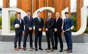 23 November 2018; In attendance during the GPA DCU Business School Masters Scholarship Programme and MBA Programme announcement are, from left, Cavan Footballer Dara McVeety, Dublin hurler Chris Crummey, GPA CEO Paul Flynn, Former Down Hurler Michael Ennis, Former Meath hurler Colm Ó Méalóid, and Dublin hurler Eoghan O Donnell at DCU Business School in Dublin. Photo by Sam Barnes/Sportsfile