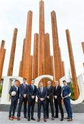 23 November 2018; In attendance during the GPA DCU Business School Masters Scholarship Programme and MBA Programme announcement are, from left, Cavan Footballer Dara McVeety, Dublin hurler Chris Crummey, GPA CEO Paul Flynn, GPA Education officer Noel Connors, Former Down Hurler Michael Ennis, Former Meath hurler Colm Ó Méalóid, and Dublin hurler Eoghan O Donnell at DCU Business School in Dublin. Photo by Sam Barnes/Sportsfile