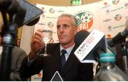 5 November 2002; Republic of Ireland Manager Mick McCarthy pictured at a press conference at which his departure as manager of the Republic of Ireland team was announced. Photo by; David Maher/SPORTSFILE