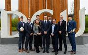 23 November 2018; In attendance during the GPA DCU Business School Masters Scholarship Programme and MBA Programme announcement are, from left, Cavan Footballer Dara McVeety, GPA Education officer Noel Connors, Dublin hurler Chris Crummey, Prof. Pamela Sharkey Scott, Professor of International Business DCU,  GPA CEO Paul Flynn, Former Down Hurler Michael Ennis, Eoghan Stack, Director of Commercial Business Development at DCU Business School, Former Meath hurler Colm Ó Méalóid, and Dublin hurler Eoghan O Donnell at DCU Business School in Dublin. Photo by Sam Barnes/Sportsfile