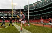 18 November 2018; Cork hurler Eoin Cadogan makes his way onto the pitch before the Aer Lingus Fenway Hurling Classic 2018 semi-final match between Clare and Cork at Fenway Park in Boston, MA, USA. Photo by Piaras Ó Mídheach/Sportsfile