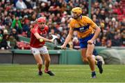 18 November 2018; Peter Duggan of Clare in action against Mark Coleman of Cork during the Aer Lingus Fenway Hurling Classic 2018 semi-final match between Clare and Cork at Fenway Park in Boston, MA, USA. Photo by Piaras Ó Mídheach/Sportsfile