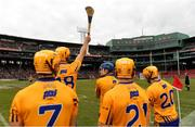 18 November 2018; Clare players look on during the Aer Lingus Fenway Hurling Classic 2018 semi-final match between Clare and Cork at Fenway Park in Boston, MA, USA. Photo by Piaras Ó Mídheach/Sportsfile