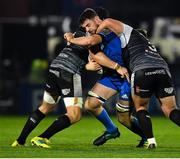 23 November 2018; Josh Murphy of Leinster in action against Tom Botha, left, and James King of Ospreys during the Guinness PRO14 Round 9 match between Leinster and Ospreys at the RDS Arena in Dublin. Photo by Seb Daly/Sportsfile