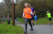 24 November 2018; parkrun Ireland in partnership with Vhi, added their 100th event on Saturday, 24th November, with the introduction of the Glen River parkrun in Co. Cork. Pictured is Clare McGonagle, from Cork City taking part in the Glen River parkrun. parkruns take place over a 5km course weekly, are free to enter and are open to all ages and abilities, providing a fun and safe environment to enjoy exercise. To register for a parkrun near you visit www.parkrun.ie. Photo by Eóin Noonan/Sportsfile