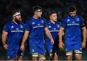 23 November 2018; Leinster players, from left, Michael Bent, Caelan Doris, Scott Penny and Josh Murphy during the Guinness PRO14 Round 9 match between Leinster and Ospreys at the RDS Arena in Dublin. Photo by Seb Daly/Sportsfile