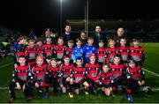 23 November 2018; The Clane RFC team with Leinster players Will Connors and Barry Daly ahead of the Bank of Ireland Half-Time Minis at the Guinness PRO14 Round 9 match between Leinster and Ospreys at the RDS Arena in Dublin. Photo by Ramsey Cardy/Sportsfile