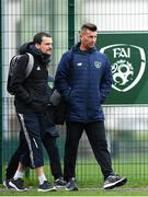 24 November 2018; Cork City FC Women's manager Rónán Collins, left, and Republic of Ireland Women's National team manager Colin Bell during the 2018 FAI Coach Education Conference at IT Carlow, in Carlow. Photo by Harry Murphy/Sportsfile