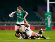 24 November 2018; Lauren Delany of Ireland is tackled by Poppy Cleall, right, and Leanne Riley of England during the Women's International Rugby match between England and Ireland at Twickenham Stadium in London, England. Photo by Matt Impey/Sportsfile