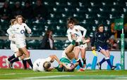 24 November 2018; Eimear Considine goes over to score her side's first try during the Women's International Rugby match between England and Ireland at Twickenham Stadium in London, England. Photo by Matt Impey/Sportsfile