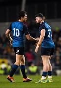 24 November 2018; Joey Carbery, left and Sam Arnold of Ireland during the Guinness Series International match between Ireland and USA at the Aviva Stadium in Dublin. Photo by Seb Daly/Sportsfile
