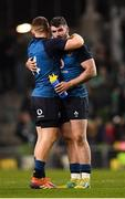 24 November 2018; Sam Arnold, right, and Andrew Conway of Ireland embrace following their side's victory during the Guinness Series International match between Ireland and USA at the Aviva Stadium in Dublin. Photo by Seb Daly/Sportsfile