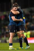 24 November 2018; Sam Arnold, left, and Rhys Ruddock of Ireland embrace following their side's victory during the Guinness Series International match between Ireland and USA at the Aviva Stadium in Dublin. Photo by Seb Daly/Sportsfile