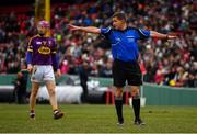 18 November 2018; Referee Colm Lyons during the Aer Lingus Fenway Hurling Classic 2018 semi-final match between Limerick and Wexford at Fenway Park in Boston, MA, USA. Photo by Piaras Ó Mídheach/Sportsfile