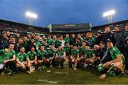 18 November 2018; Limerick players celebrate after the Aer Lingus Fenway Hurling Classic 2018 Final match between Cork and Limerick at Fenway Park in Boston, MA, USA. Photo by Piaras Ó Mídheach/Sportsfile