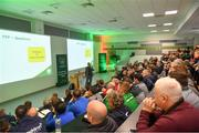 24 November 2018; FAI High Performace Director Ruud Dokter speaking during the 2018 FAI Coach Education Conference at IT Carlow in Carlow. Photo by Piaras Ó Mídheach/Sportsfile