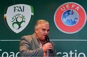 24 November 2018; Niall Harrison, Emerging Talent Programme National Coordinator at Football Association of Ireland, during the UEFA Elite Youth A Licence Graduation 2018 at The Talbot Hotel Carlow. Photo by Piaras Ó Mídheach/Sportsfile