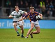 25 November 2018; Callum Pearson of Kilmacud Crokes in action against Chris Finn of Portlaoise during the AIB Leinster GAA Football Senior Club Championship semi-final match between Kilmacud Crokes and Portlaoise at Parnell Park in Dublin. Photo by Daire Brennan/Sportsfile