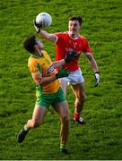 25 November 2018; Diarmuid O'Connor of Ballintubber in action against Daithi Burke of Corofin during the AIB Connacht GAA Football Senior Club Championship Final match between Ballintubber and Corofin at Elvery's MacHale Park in Castlebar, Mayo. Photo by David Fitzgerald/Sportsfile