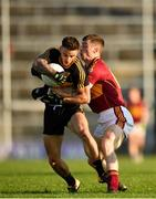 25 November 2018; Micheál Burns of Dr Crokes is tackled by Kieran Malone of St Joseph's Miltown Malbay during the AIB Munster GAA Football Senior Club Championship Final match between Dr. Crokes and St. Josephs Miltown Malbay at the Gaelic Grounds in Limerick. Photo by Eóin Noonan/Sportsfile