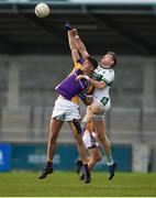 25 November 2018; Conor Casey of Kilmacud Crokes in action against Kieran Lillis of Portlaoise during the AIB Leinster GAA Football Senior Club Championship semi-final match between Kilmacud Crokes and Portlaoise at Parnell Park in Dublin. Photo by Daire Brennan/Sportsfile