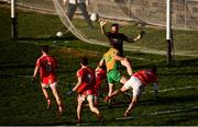25 November 2018; Michael Lundy of Corofin shoots to score his side's first goal during the AIB Connacht GAA Football Senior Club Championship Final match between Ballintubber and Corofin at Elvery's MacHale Park in Castlebar, Mayo. Photo by David Fitzgerald/Sportsfile