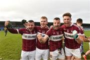25 November 2018; Mullinalaghta St Columba's players from left Conor McElligott, Eoghan Keegan, Aidan McElligott and John Keegan after the AIB Leinster GAA Football Senior Club Championship semi-final match between Mullinalaghta St. Columba's and Eire Og at Glennon Brothers Pearse Park in Longford. Photo by Matt Browne/Sportsfile
