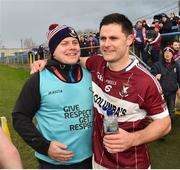 25 November 2018; Mullinalaghta St Columba's manager Mickey Graham and team captain Shane Mulligan celebrate after the AIB Leinster GAA Football Senior Club Championship semi-final match between Mullinalaghta St. Columba's and Eire Og at Glennon Brothers Pearse Park in Longford. Photo by Matt Browne/Sportsfile