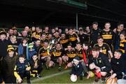 25 November 2018; Dr Crokes players celebrate with the cup following the AIB Munster GAA Football Senior Club Championship Final match between Dr. Crokes and St. Josephs Miltown Malbay at the Gaelic Grounds in Limerick. Photo by Eóin Noonan/Sportsfile