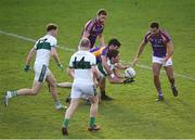 25 November 2018; Conor Boyle of Portlaoise in action against Cian O'Sullivan of Kilmacud Crokes during the AIB Leinster GAA Football Senior Club Championship semi-final match between Kilmacud Crokes and Portlaoise at Parnell Park in Dublin. Photo by Daire Brennan/Sportsfile
