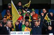 25 November 2018; Michael Lundy, left, and Ciaran McGrath of Corofin lift the trophy following the AIB Connacht GAA Football Senior Club Championship Final match between Ballintubber and Corofin at Elvery's MacHale Park in Castlebar, Mayo. Photo by David Fitzgerald/Sportsfile