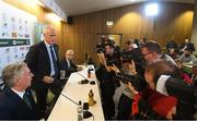 25 November 2018; Newly appointed Republic of Ireland manager Mick McCarthy prior to a press conference at the Aviva Stadium in Dublin. Photo by Stephen McCarthy/Sportsfile