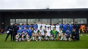 3 November 2018; The Ireland squad after the U21 Hurling Shinty International 2018 match between Ireland and Scotland at Games Development Centre in Abbotstown, Dublin. Photo by Piaras Ó Mídheach/Sportsfile