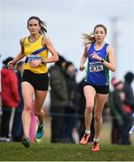 25 November 2018; Sinead Sweeney of Queens University AC, Belfast, right, competing in the Senior and U23 Women's 8,000m during the Irish Life Health National Senior & Junior Cross Country Championships at National Sports Campus in Abbottstown, Dublin. Photo by Harry Murphy/Sportsfile