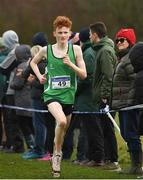 25 November 2018; Conall Mcclean of St. Malachys A.C. Belfast, competing in the Boys U18/Junior 6,000m during the Irish Life Health National Senior & Junior Cross Country Championships at National Sports Campus in Abbottstown, Dublin. Photo by Harry Murphy/Sportsfile