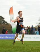 25 November 2018; Ronan Donohue of Clonliffe Harriers A.C. Co. Dublin, competing in the Boys U16 4,000m during the Irish Life Health National Senior & Junior Cross Country Championships at National Sports Campus in Abbottstown, Dublin. Photo by Harry Murphy/Sportsfile