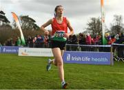 25 November 2018; Saoirse O'Brien of Westport competing in the Girls U18/Junior 4000m during the Irish Life Health National Senior & Junior Cross Country Championships at National Sports Campus in Abbottstown, Dublin. Photo by Harry Murphy/Sportsfile