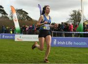 25 November 2018; Abbie Sheridan of Ardee & District AC Co. Louth, competing in the Girls U18/Junior 4000m during the Irish Life Health National Senior & Junior Cross Country Championships at National Sports Campus in Abbottstown, Dublin. Photo by Harry Murphy/Sportsfile
