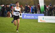 25 November 2018; Abdel Laadjel of Donore Harriers Co. Meath, competing in the Boys U16 4,000m during the Irish Life Health National Senior & Junior Cross Country Championships at National Sports Campus in Abbottstown, Dublin. Photo by Harry Murphy/Sportsfile