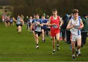 25 November 2018; Ben O'Connor of Leevale A.C. Co. Cork, second right, competing in the Boys U16 4,000m during the Irish Life Health National Senior & Junior Cross Country Championships at National Sports Campus in Abbottstown, Dublin. Photo by Harry Murphy/Sportsfile