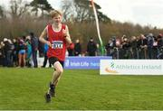 25 November 2018; Adam Kiely of Leevale A.C. Co. Cork, competing in the Boys U16 4,000m during the Irish Life Health National Senior & Junior Cross Country Championships at National Sports Campus in Abbottstown, Dublin. Photo by Harry Murphy/Sportsfile