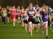 25 November 2018; Matthew Glennon of Mullingar Harriers A.C. Co. Westmeath, competing in the Boys U16 4,000m during the Irish Life Health National Senior & Junior Cross Country Championships at National Sports Campus in Abbottstown, Dublin. Photo by Harry Murphy/Sportsfile