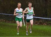 25 November 2018; Kevin Dooney of Raheny Shamrock A.C. Co. Dublin, and Sean Tobin of Clonmel A.C. Co. Tipperary, competing in the Senior and U23 Men's 10,000m during the Irish Life Health National Senior & Junior Cross Country Championships at National Sports Campus in Abbottstown, Dublin. Photo by Harry Murphy/Sportsfile