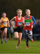 25 November 2018; Ella Latuske of City of Lisburn A.C. Belfast, competing in the Girls U14 2,000m during the Irish Life Health National Senior & Junior Cross Country Championships at National Sports Campus in Abbottstown, Dublin. Photo by Harry Murphy/Sportsfile