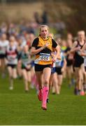25 November 2018; Lily Sheehy of Ashford A.C. Co. Wicklow, competing in the Girls U14 2,000m during the Irish Life Health National Senior & Junior Cross Country Championships at National Sports Campus in Abbottstown, Dublin. Photo by Harry Murphy/Sportsfile