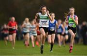 25 November 2018; Rebecca Kelleher of Carraig-Na-Bhfear A.C. Co. Cork, centre, competing in the Girls U14 2,000m during the Irish Life Health National Senior & Junior Cross Country Championships at National Sports Campus in Abbottstown, Dublin. Photo by Harry Murphy/Sportsfile
